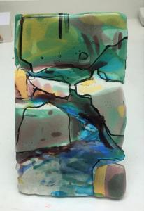 Wendy Lund, Whiteadder Gorge Kilncarved Glass,  19x11cm,  NFS