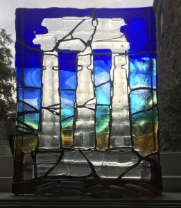 Wendy Lund, Olympia, fused glass, 36x27cm,  £75