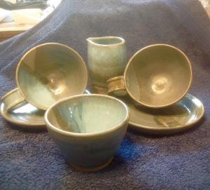 Annie Bruckner, Ceramics, Tea for Two.  Stone ware ceramic.  NFS