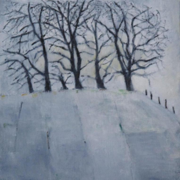 Amanda Wheatley, Borders Copse,oil on  linen panel, 30x24cm, £95