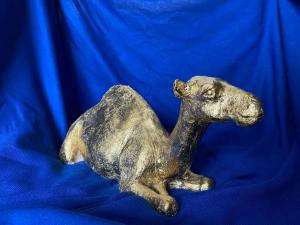 Jane Mill-Irving,  Camel. Ceramic with gold leaf  30cm x 15cm.  NFS