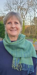 Carol Gascoigne, Scarf, silk & wool, 127x37cm, NFS