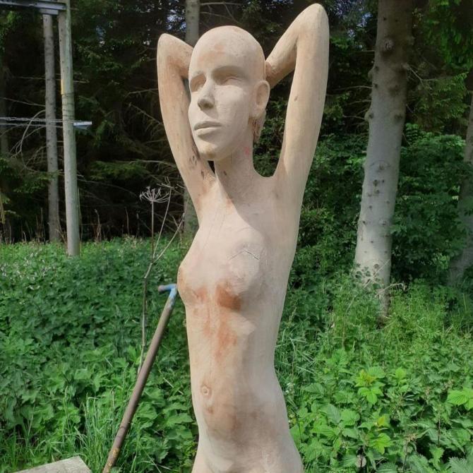 Chris Hall, Persephone. Carved Wood