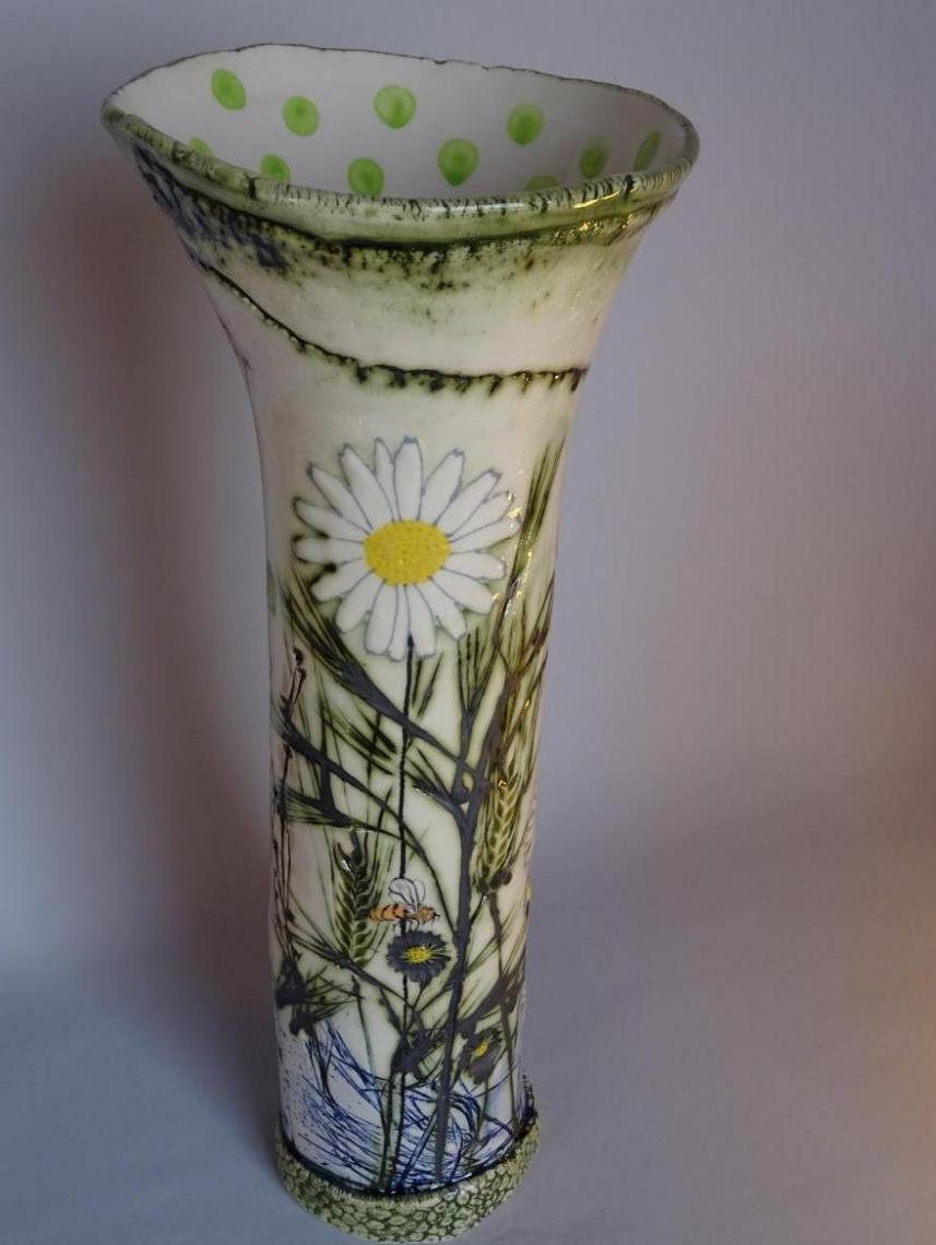 Lorna Watt,  Daisy Vase. Porcelain,    height 38.5cm. £85