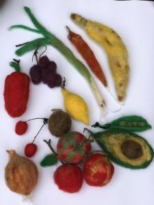 Jess McCafferty, Dead Plum Tree - Fruit & Veg, Needle, Felt and fleece stuffing, free for children
