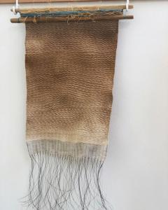 Kirsty Odds, Shifting Sands, hand-dyed lambswool, 40x24cm,   NFS