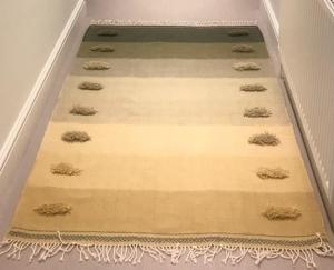 Kristina Taylor,  TANSY 1 Wool on 2/3 cotton warp 110 x 170 cm4 shafts on Glimakra floor loom. NFS
