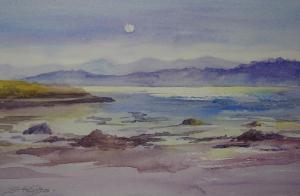 Sheena Phillips, Evening from Cuross, watercolour, 39.5x29cm, £50