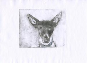 Malcolm Innes, Hero, Intaglio print on paper, 20x14.5cm,£30