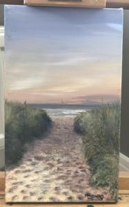 Mandy McGowan, Evening Haze,  acrylic on canvas, 25.5x15cm, £30