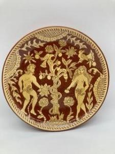 Julia Albert-Recht, Adam and Eve. Terracotta Earthenware,  Dimensions 31cm x 9cm NFS