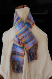 Angela Fotheringham, Ladies Cravat, silk double weave, partially filled and embellished, NFS