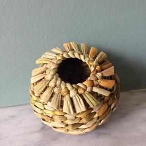 Janice Hall,  Sea Urchin Rush Basket, English Common club-rush, d 10 cm, h 7 cm,  £35