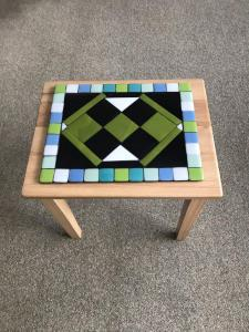 Maureen Cameron, Coffee Table Top, fused glass mosaic, 30x24x0.6cm, NFS