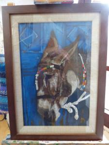 Duchess of Hamilton Award   -  Jane Mill-Irving,  Donkey,  AcrylicFor the most outstanding exhibit in the painting / drawing section.