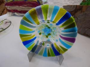 Commended  -  Sally Moore – Shallow Shard Bowl on Stand - Glass