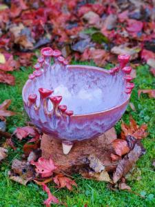 Jackie Hunter,  Purple Bowl,pottery,  15.5x18cm,  NFS