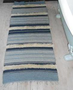 Kristina Taylor, Scandi Rug 1woad & indigo dyed wool, 172x74cm, £400