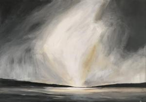 Kerrie Pe-Win, When Darkness Falls, There's Light, acrylic on canvas, 70x100cm,  £250
