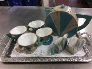 Susan Law,   Tea for Four. Pottery Teaset. NFS