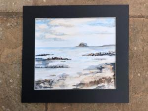 Sally Heaphy, View To The Bass. Watercolour 358mm x 304mm.  £45.00
