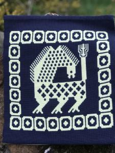 Marie Henderson,  Lion in traditional Finn Weave. Cotton.  NFS