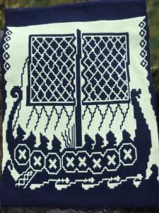 Marie Henderson,  Viking in traditional Finn Weave. Cotton.  NFS