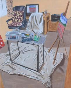 John Mole, Where I Paint, acrylic on canvas, 40x50cm, £180