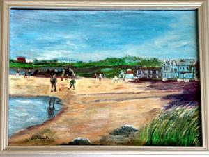 Ann Duncan (Perratt),  Beach 1.  Acrylic on artboard.  34.5cms x 44.5cms framed. £100