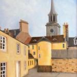 Leonard Mair, Lockdown in Dickson's Close, Haddington, oil on linen panel, 30x40 cm (framed) £195 (+ postage)