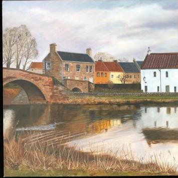Leonard Mair, Orange House, Haddington, oil on canvas, 40x40cm (framed), £195 (+postage)