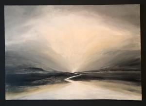 Kerrie Pe-Win,  Beyond Us.  Acrylic on Canvas - 70 cm x 100 cm.  NFS