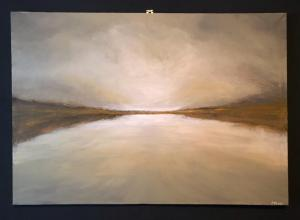 Kerrie Pe-Win, Where There Is Light.  Acrylic on Canvas - 70 cm x 100 cm. NFS